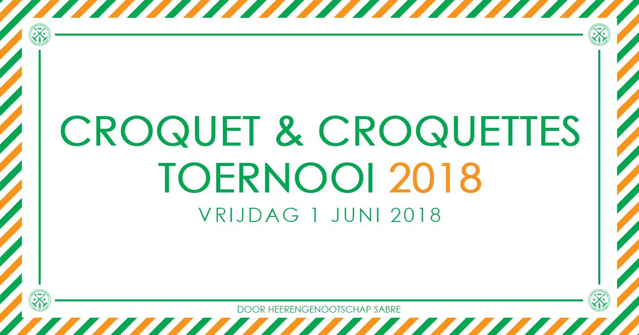 Croquet & Croquettes-toernooi 2018